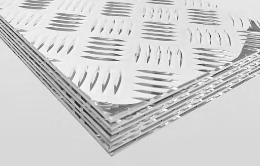 TABLA STRIATA DIN ALUMINIU 3 x 4.5 MM - 1000 x 2000 MM